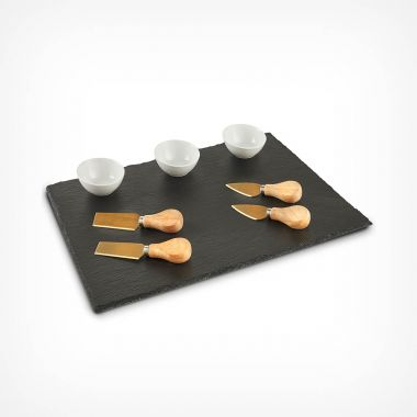 9 Piece Cheeseboard and Dipping Set