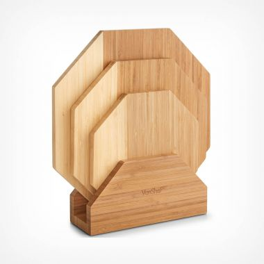 Set of 3 Serving Boards With Stand