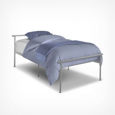 Silver Single Bed