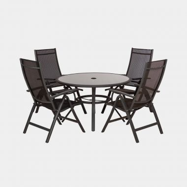 4 Seater Round Dining Recliner Set