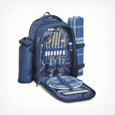 2 Person Navy Picnic Backpack