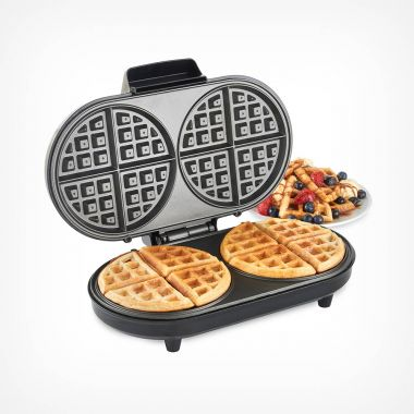 Dual Round Waffle Maker