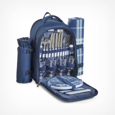 4 Person Navy Picnic Backpack