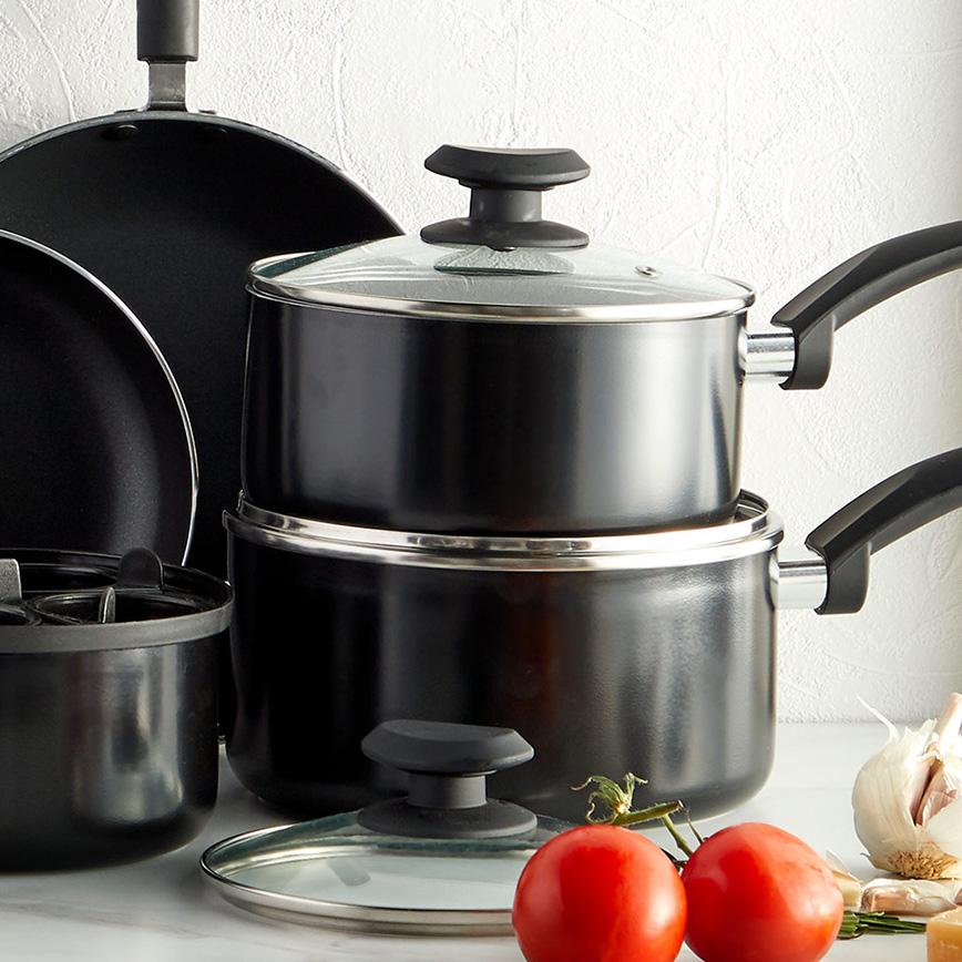 VonShef 15 piece aluminium pots and pans set